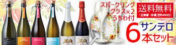 【送料無料】サンテロ・スパークリングワイン 750ml 6本セット ワイン