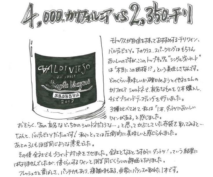 """""""バルディビエソシャルドネ下部"""""""