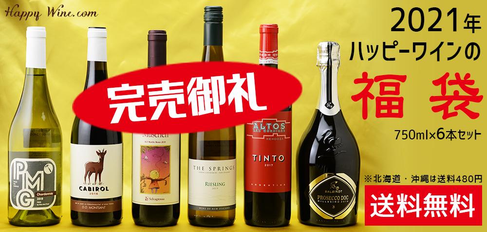 ◎【送料無料】2021年ハッピーワインの福袋 750ml×6本セット